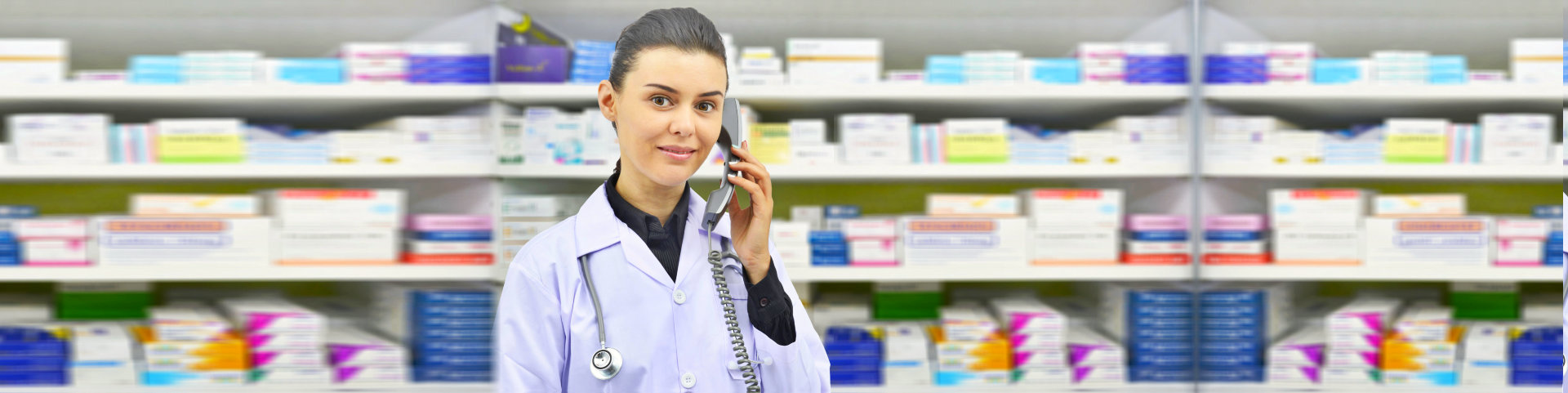 pharmacist making a phone call